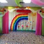 Подготовка зала к выпускному педагогами МДОУ